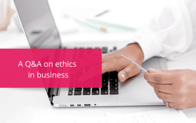 A Q&A on ethics in business