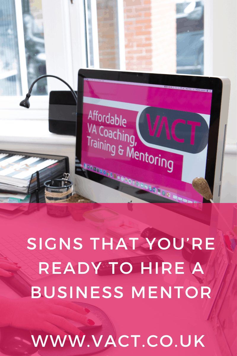 Signs that you're ready to hire a VA business mentor