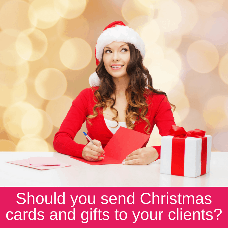 Christmas cards and gifts for clients