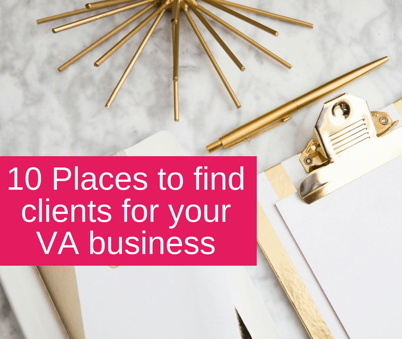 10 places to find clients for your VA business