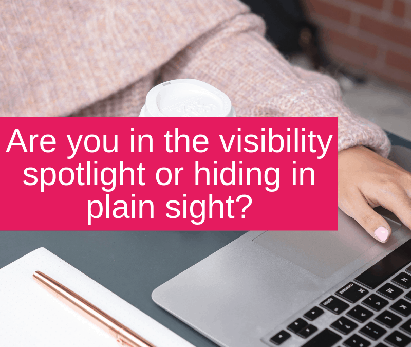 Are you in the visibility spotlight or hiding in plain sight