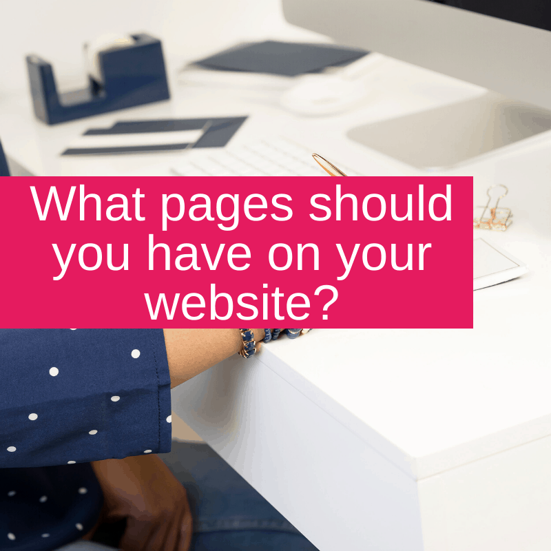 What pages should you have on your website?